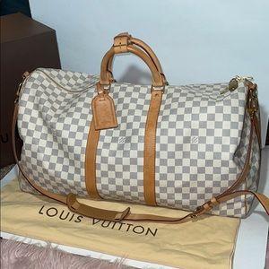 Authentic Louis Vuitton damier azur keepall 55 bag